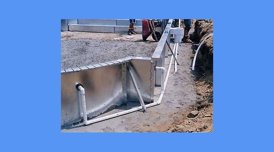 Inground Pool Plumbing Installation : In ground steel wall pool installation process explained